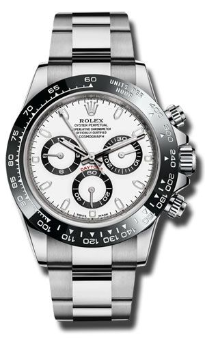 Rolex Daytona Steel Ceramic White Dial 40mm