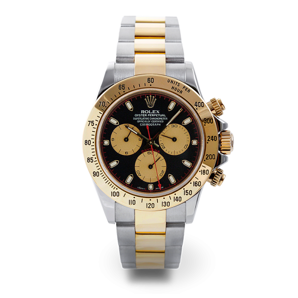 Rolex New Style Pre Owned Daytona Steel and Yellow Gold Black Paul Newman Dial 40mm