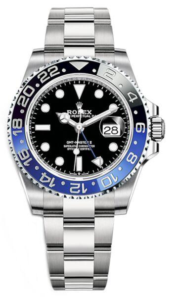 Rolex GMT-Master II Steel Black Dial Black and Blue 'Batman' Bezel on Oyster Bracelet 40mm