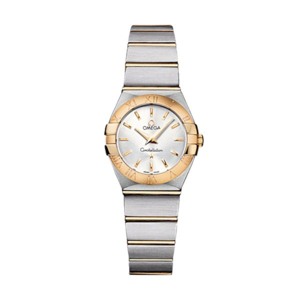 Open Box - Constellation Silver Dial Stainless Steel and Gold Ladies Watch 123.20.24.60.02.002