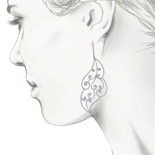 Floral Dangling Earrings