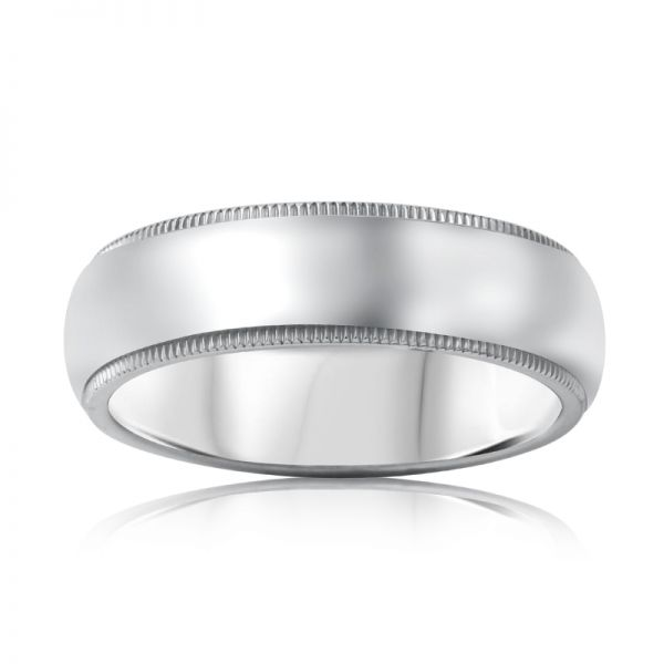Milgrain Comfort Fit 6mm Wedding Ring