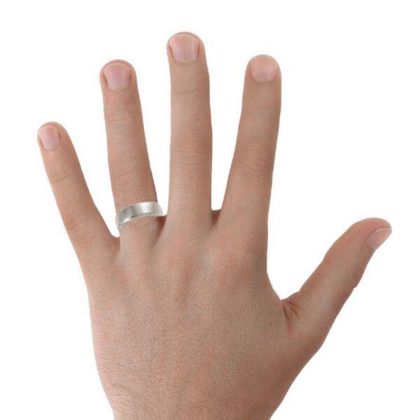 Hidden Diamonds Mens Wedding Ring