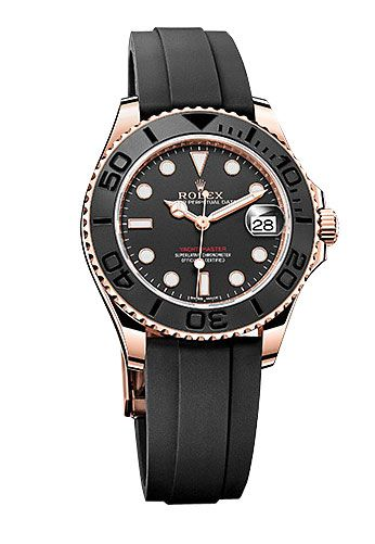 Rolex Yacht-Master Rose Gold Black Dial 37mm